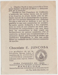 Charles Mack 1920s Juncosa PAPER STOCK Trading Card #D-1