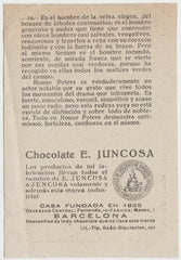 House Peters 1920s Juncosa PAPER STOCK Trading Card #C-14