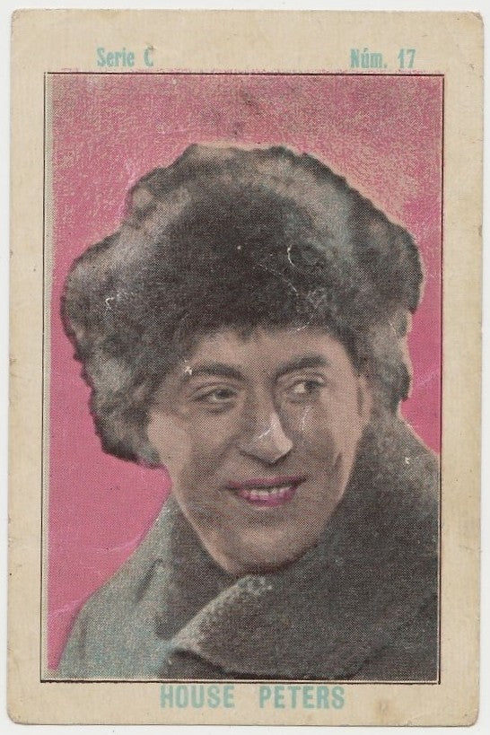 House Peters 1920s Juncosa PAPER STOCK Trading Card #C-17