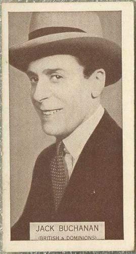 Jack Buchanan 1934 Wills Famous Film Stars Tobacco Card #93 - Standard Size