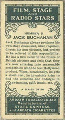 Jack Buchanan 1935 Ardath Film Stage and Radio Stars Tobacco Card #6