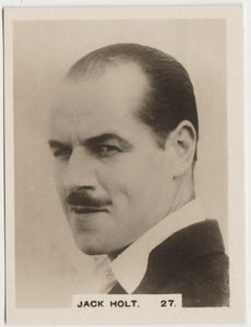 Jack Holt 1934 John Player Film Stars Tobacco Card 1st Series #27