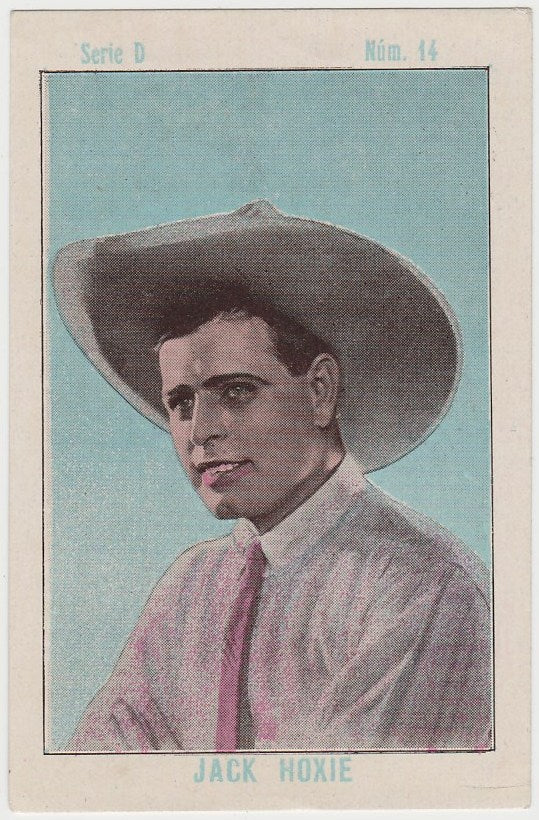 Jack Hoxie 1920s Juncosa PAPER STOCK Trading Card #D-14
