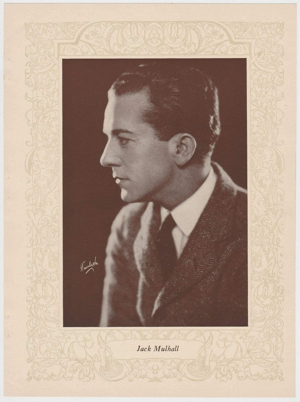 Jack Mulhall 1923 MPDA Popular Film Folk 8 X 10.75 Printed Photo