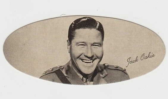 Jack Oakie 1934 Carreras Film Stars Oval Trading Card #25