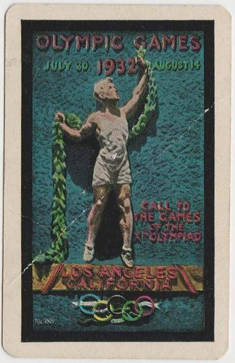 Jack Oakie + Richard Arlen 1932 PG Wenger LA Olympics Playing Card