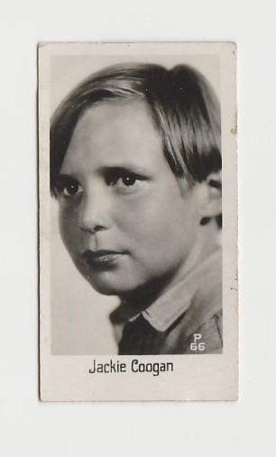 Jackie Coogan 1930s LA PIE QUI CHANTE Small Real Photo Trading Card #66