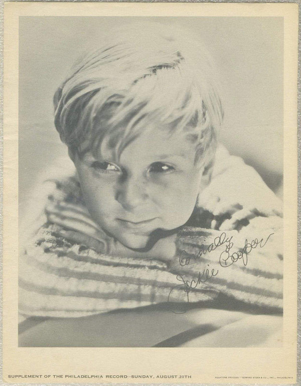 Jackie Cooper 1933 Date Philadelphia Record Newspaper Supplement Photo M23