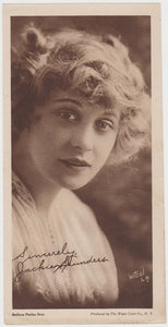 Jackie Saunders Vintage 1910s Kromo Gravure Trading Card - Rounded Border Type