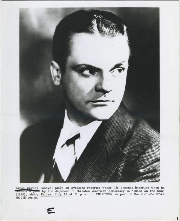 James Cagney BLOOD ON THE SUN (1945) Promotional Photo for 1980s PBS Showing