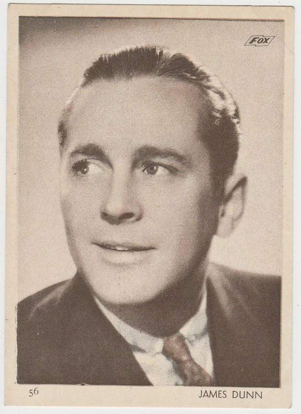 James Dunn 1930s Aguila Large Paper Stock Trading Card #56