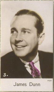 James Dunn 1935 Bridgewater Film Stars Small Trading Card - Series 4 #3