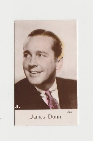 James Dunn 1934 John Player Film Stars Tobacco Card 1st Series #16