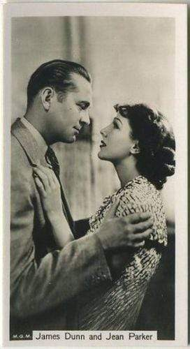James Dunn + Jean Parker 1937 John Sinclair Film Stars Tobacco Card #59