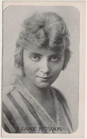 Jane Novak Vintage 1910s Kromo Gravure Trading Card - Rounded Border Type