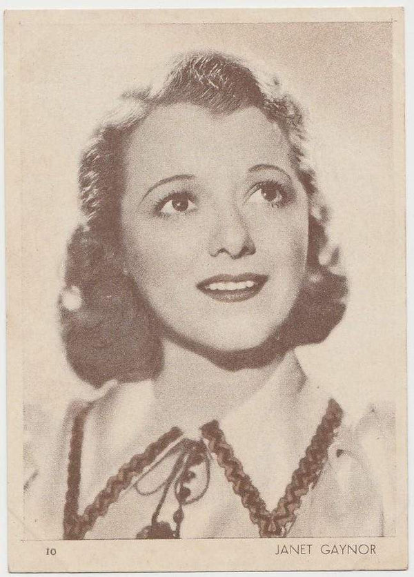 Janet Gaynor 1930s Aguila Large Paper Stock Trading Card #10
