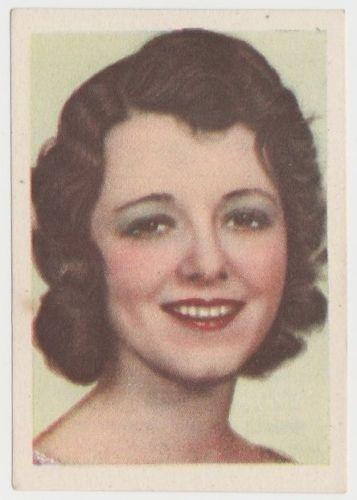Janet Gaynor 1930s Editorial Bruguera Cinefoto Paper Stock Trading Card #7