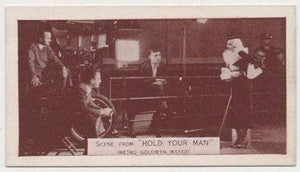 Jean Harlow + Clark Gable 1935 Ardath SCENES FROM BIG FILMS Tobacco Card #46