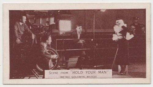Jean Harlow + Clark Gable 1935 Ardath SCENES FROM BIG FILMS Trading Card #46