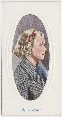 Jean Muir 1930s Aguila Large Paper Stock Trading Card #61