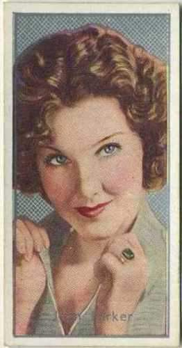 Jean Parker 1936 Carreras Film Stars by Desmond Tobacco Card #24