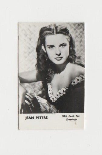 Jean Peters with Giant Snowman on 1947 Press Photo with Date Stamp + Paper Tag