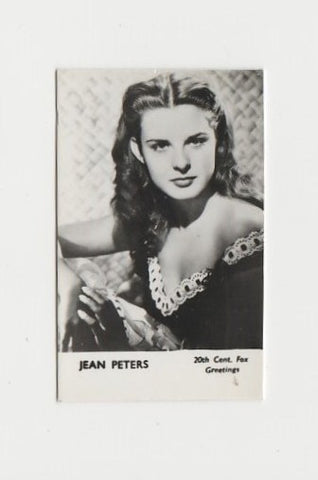 Jean Peters Vintage 1950s Maple Leaf Playing Card of Film Star