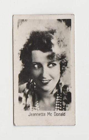 Jeanette MacDonald 1930s LA PIE QUI CHANTE Small Real Photo Trading Card #31