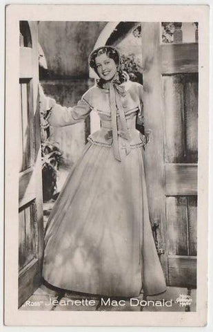 Jeanette MacDonald 1930s Vintage ROSS Film Stars Real Photo Trading Card #1