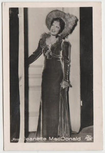 Jeanette MacDonald 1930s Vintage ROSS Film Stars Real Photo Trading Card #3