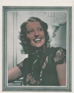 Jeanette MacDonald 1938 Color Toned Movie Star Premium Photo