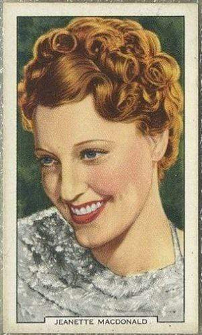 Jeanette MacDonald 1939 Gallaher My Favourite Part Tobacco Card #37