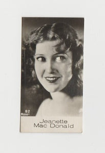 Jeanette MacDonald 1934 Carreras Film Stars Oval Tobacco Card #37