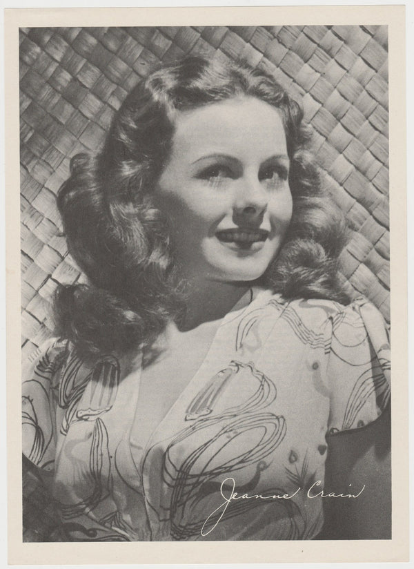 Jeanne Crain 1946 Motion Picture Magazine Paper Printed Photo 7.5 X 10