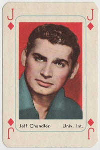 Jeff Chandler Vintage 1950s Maple Leaf Playing Card of Film Star