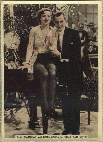 Jessie Matthews +Louis Borell 1936 Ardath From Screen and Stage Tobacco Card #34