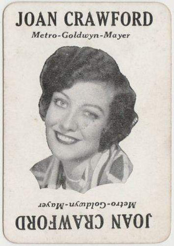 JOAN CRAWFORD Vintage 1929 Wilder MOVIE-LAND KEENO Game Card