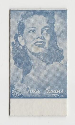 Joan Evans Early 1950s Film Star Weight Machine Card from Spain