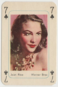 Joan Rice Vintage 1950s Maple Leaf Playing Card of Film Star