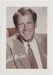 Joel McCrea 1934 Engrav-o-tints Peerless Weight Machine Card