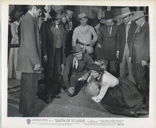 Joel McCrea + Alexis Smith 1949 8x10 Still Photo SOUTH OF ST LOUIS 361-69