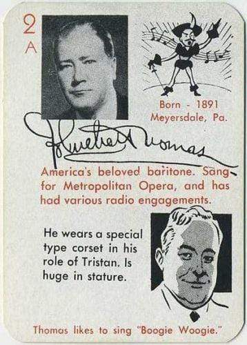 John C Thomas 1945 Leister Autographs Game Card Trading Card EX+