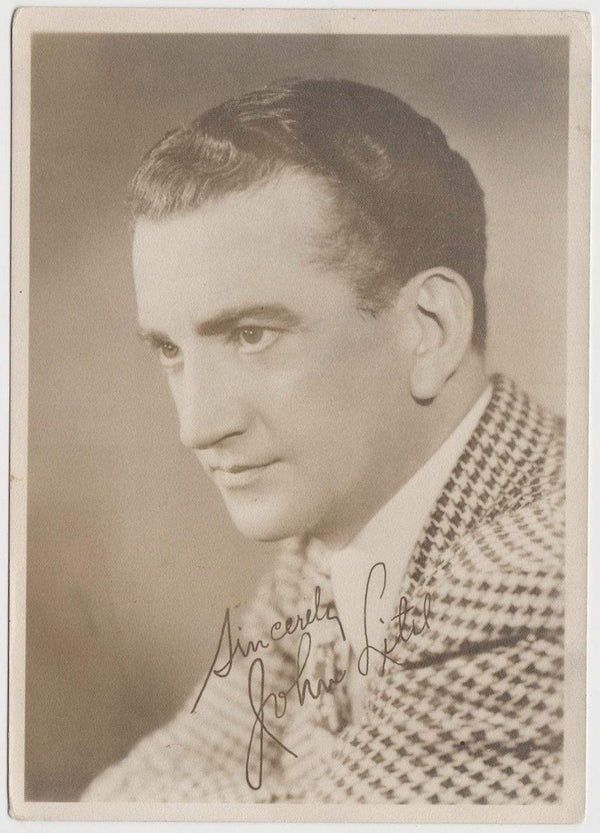 John Litel Vintage 1930s Era 5x7 Movie Star Fan Photo