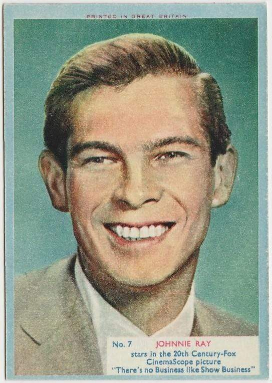 Johnnie Ray 1956 A&BC Film Stars Trading Card #7
