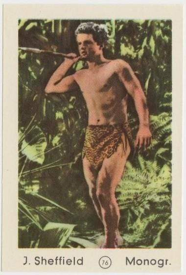 Johnny Sheffield BOMBA 1952 Maple Leaf Gum Film Star Paper Stock Trading Card