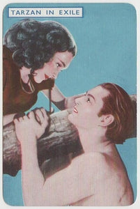 Johnny Weissmuller + Maureen O'Sullivan 1939 Film Fantasy Game Card TARZAN