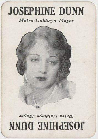 JOSEPHINE DUNN Vintage 1929 Wilder MOVIE-LAND KEENO Game Card