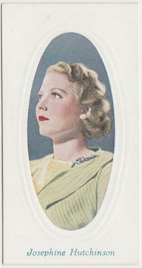 Josephine Hutchinson 1936 Godfrey Phillips Screen Stars Trading Card #40