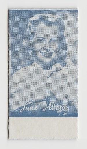 June Allyson Early 1950s Film Star Weight Machine Card from Spain