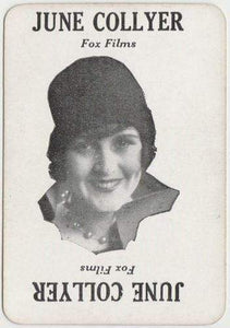 JUNE COLLYER Vintage 1929 Wilder MOVIE-LAND KEENO Game Card